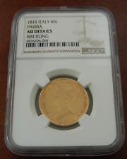 Italy Parma 1815 Gold 40 Lire NGC AU Details Maria Luigia