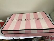 "Victoria'S Secret Striped Pink Gift Box Medium 15.5"" x 10"" x 3"""