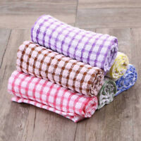 Tea Towels Terry Cotton Kitchen Dish Cloths Clean Microfibre Absorbent Non-stick