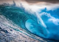 A3| Stunning Wave Poster Size A3 Big Waves Surf Surfing Sea Poster Gift #16969