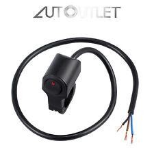 Interruptor de Luces Apagada para Manillar de Moto Impermeable On-Off 12V Negro