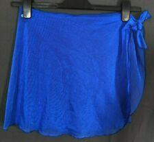 RAISINS Women's CHIFFON Swimwear SARONG/WRAP/COVER-UP Skirt Royal Blue OSFA
