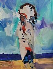 JOSE TRUJILLO Oil Painting 11X14 CHIEF EXPRESSIONISM COLLECTIBLE ART AMERICAN