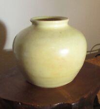 Vintage Barry Gaston Organic School yellow vase Fairhope AL 516-35