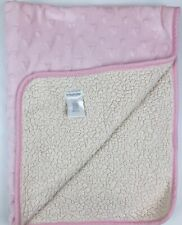 Pitter Patter Pink Heart Minky Baby Blanket Fleece Lovey