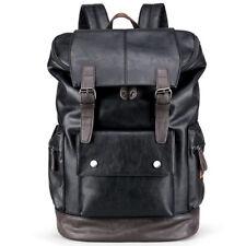 New Mens Leather Backpack Travel Rucksack Satchel Bag School Shoulder Handbag