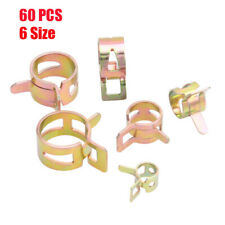 Hot 60Pcs 6-15mm Spring Clips Fuel Oil Water Hose Clip Pipe Tube Clamp Fastener