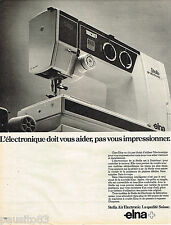 PUBLICITE ADVERTISING 055  1981  ELNA machine à coudre STELLA AIR ELECTRONIC