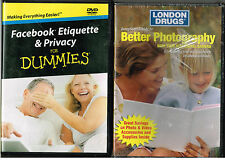 Jump Start Guide to Better Photography, Sealed + Facebook Etiquette , 2 DVDs