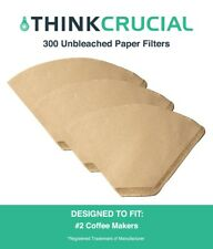 300 Replacements Unbleached Natural Brown Paper #2 Coffee Filters Clever Small
