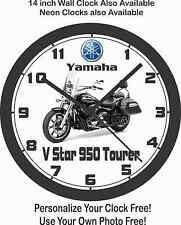 2016 YAMAHA V STAR 950 TOURER MOTORCYCLE WALL CLOCK-FREE USA SHIP!