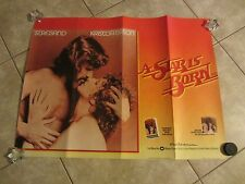 A STAR IS BORN movie poster BARBRA STREISAND poster - original uk quad poster