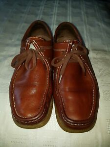 MEN'S KICKERS BROWN LEATHER SHOES SIZE EU42 NICE PAIR OF SHOES