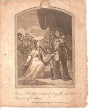 The Intercession of Queen Philippa for the Citizens of Calais-Engraving- 1797