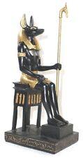 Statuette égyptienne - Déco Egypte - Statuette Anubis sur son trône