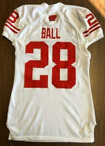 2013 Montee Ball Game Used Wisconsin Badgers Rose Bowl Jersey PHOTOMATCHED