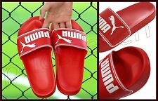 Puma Adult's 'LeadCat' High Risk Red/White Sandals  Slides