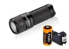 Fenix E15 2016 450 Lumens Keychain LED Flashlight w/ 1x 16340 RCR123A  & Charger