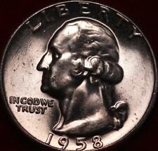 Uncirculated 1958 Phildelphia Mint Silver Washington Quarter