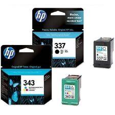 1 x HP 337 Nero c9364ee + 1 x inchiostro a colori 343 c8766ee ORIGINALE CARTUCCE a getto d'inchiostro