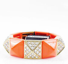 $68 Juicy Couture Orange  Color Pave Pyramid Stretch Stacking Bracelet
