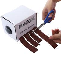 Ausziehbar Schmirgeltuchrolle Schmirgelrolle Aluminiumoxid Werkzeug DE
