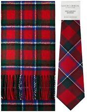 Sinclair Rojo Moderno Tartán brushwool Bufanda & Tie Conjunto de Regalo