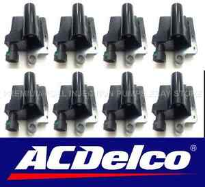 Set of 8 New ACDelco Ignition Coils for GENERAL MOTORS - ISUZU - BSC1208