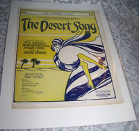 Vintage Old Paper Sheet music 1926 THE DESERT SONG