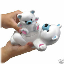 PRECIOUS PLANET TWIST & PADDLE POLAR BEARS TUB TOY *NEW