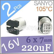 2 x 16V 220UF 6x7mm Standard SMD Super Low ESR Aluminum Solid Capacitor