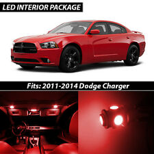 2011-2014 Dodge Charger Red Interior LED Lights Package Kit