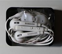 Genuine Samsung Galaxy S6 S7 Edge Earphones S5 Note Headphones+Case+Earbud WHITE