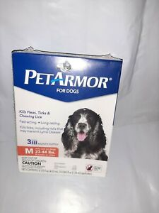 PET ARMOR DOG FLEA & TICK SQUEEZE ON TREATMENT FOR MEDIUM DOGS 23-44 LBS 3 DOSES