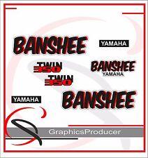 Yamaha Banshee Decals 1987 White Model Graphic Reproduction Custom Full Set
