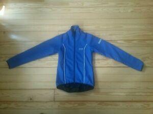 """Gore Bike Wear Blue Softshell Windstopper Jacket mens womans Size S 11"""" Pit Zips"""
