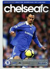 Chelsea V Stoke City-programa-Liga Premier - 17th de enero de 2009