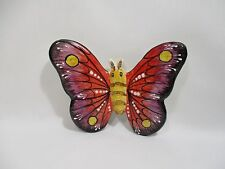 ANCIEN PAPILLON CERAMIQUE DE VALLAURIS SIGNE D N B OLD CERAMIC BUTTERFLY