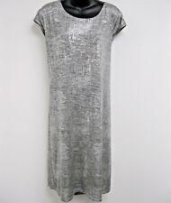 Tunic Dress 3X Plus Calvin Klein $110 NWT Metallic Silver Embellish Button J44