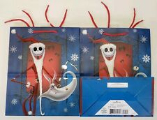 Lot Of 2 New Hallmark Disney Nightmare Before Christmas Gift Bag Jack Skeleton