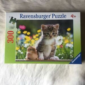 RAVENSBURGER CUTE FRIENDS KITTEN AND CHICK Jigsaw Puzzle 300 Piece CHICKEN CAT