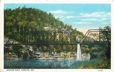 Forsyth Missouri~Two-Span Bridge at Shadow Rock 1920s Blue Sky