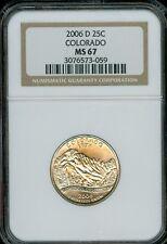 2006-D COLORADO Quarter Grade MS67 by NGC..