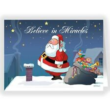 Do You Believe in Miracles- Funny Christmas Card 18 Cards & Envelopes - 20041