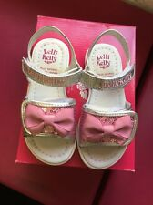 Lelli Kelly Pink And Silver Sandals With Bow Size 7.5 Eur 25