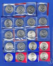 20 Coin Set 2000-2009 BU//Satin  P and D Kennedy Half Dollars in Mint Cello