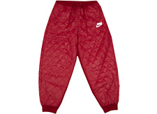 Nike Wmns Sportswear Sport Pack Quilted TD Pants Loose Fit Sz-M Red CJ6256-620