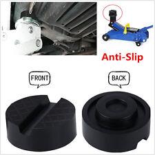 1x Anti-Slip Rubber Slotted Frame Rail Floor Jack Disk Pinch Weld Side JackPad