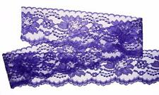 PURPLE~3 Inch Wide Floral Lace Trim~By 10 Yards