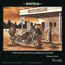 MARTINI ART PRINT Historic Route 66 Michael Godard 12x12 Image Conscious